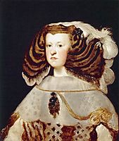 Portrait of Mariana of Austria, Queen of Spain, 1655-57, velazquez
