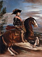 Portrait of Philip IV of Spain on horseback, 1635, velazquez