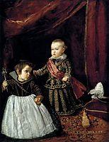 Prince Baltasar Carlos with a dwarf, 1631, velazquez