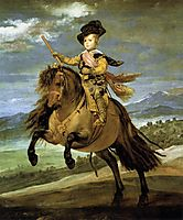 Prince Baltasar Carlos on horseback, 1635-36, velazquez