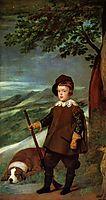 Prince Balthasar Carlos dressed as a Hunter, 1636, velazquez