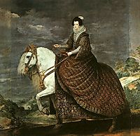 Queen Isabel of Bourbon Equestrian, 1634-35, velazquez