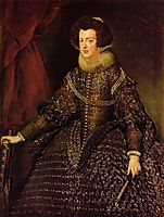 Queen Isabella of Spain wife of Philip IV , 1632, velazquez