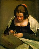 The seamstress or La Couseuse, 1640, velazquez