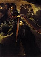 St Ildefonso Receiving the Chasuble from the Virgin, 1620, velazquez