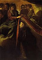 The Virgin appearing to St Ildephonsus and giving him a robe, 1620, velazquez