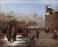 Amusement on the Ice, 1669, veldeadriaen
