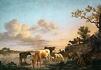 Animals by the River, 1664, veldeadriaen
