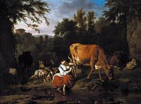 A Classical Landscape, 1671, veldeadriaen