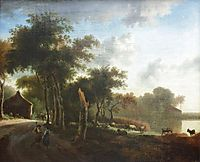 Landscape with shepherds, c.1660, veldeadriaen