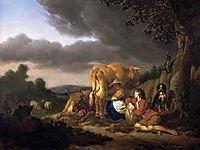 Milking a Cow, 1666, veldeadriaen