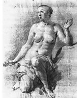 Study of a Female Nude, veldeadriaen