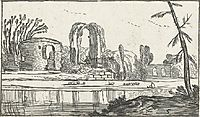 Ancient ruins by a river, c.1614, veldeesaias