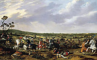 Battle scene in an open landscape, veldeesaias