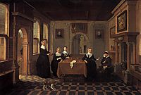 Five ladies in an interior.010 Alternate title(s)0 A Company in an Interior.020, c.1625, veldeesaias