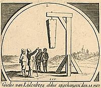 The hanging of Gilles van Ledenberg, veldeesaias
