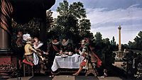 Merry company banqueting on a terrace, c.1615, veldeesaias