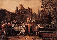 Merry company in the park, 1614, veldeesaias