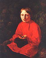 A Boy in a Red Shirt, venetsianov