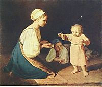 First Steps (Peasant Woman with child), venetsianov