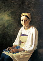 Girl with the Cornflowers, venetsianov