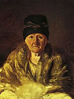 Old Nurse in Shlychkov, 1829, venetsianov