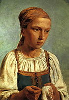 A Peasant Girl with  Embroidery, venetsianov