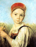 Peasant Girl with a Sickle in the Rye, venetsianov