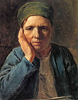 A Peasant Woman, Resting on Her Hand, 1827, venetsianov