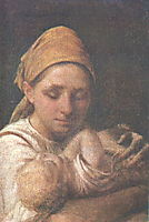 A Peasant Woman with a Child, venetsianov