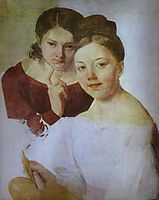 Portrait of Artist-s Daughters Alexandra and Felisata, venetsianov