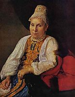 Portrait of the Merchant-s Wife Obraztsova, venetsianov
