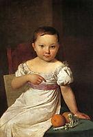Portrait of Nastya Havskaya, 1826, venetsianov