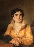 Portret of L.A. Stromilova, 1820, venetsianov