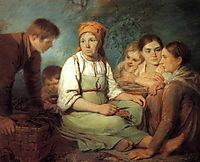 Shelling of beet, 1820, venetsianov