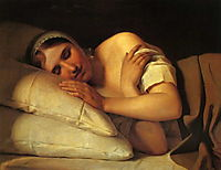Sleeping Girl, venetsianov