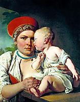 Wet-Nurse with a Child, 1830, venetsianov