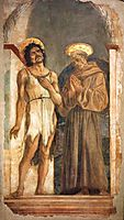 St. John the Baptist and St. Francis of Assisi , veneziano
