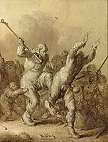 Beggars Fighting, 1634, venne