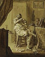 A Cavalier at His Dressing Table, venne