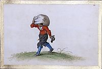 A Man Carrying a Sack, venne