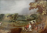 A Summer Village Landscape with Horse, c.1625, venne