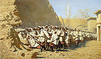 At the Fortress Walls. Let them Enter, vereshchagin