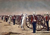 Blowing from Guns in British India, 1884, vereshchagin