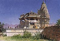 Brahminic temple in Adelnure, 1876, vereshchagin