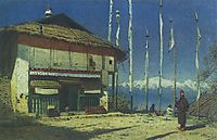 Buddhist temple in Darjeeling. Sikkim, 1874, vereshchagin