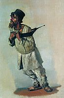Burlak who hold hands on the strap, 1866, vereshchagin