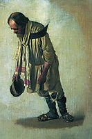 Burlak with the cap in his hand, 1866, vereshchagin
