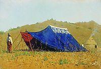 China tent, 1870, vereshchagin