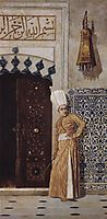 Eunuch at the door of the harem, vereshchagin